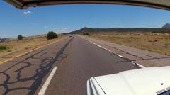 POV RV Driving Interstate 40 Near Ash Fork Arizona Stock Footage