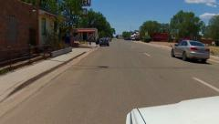 POV RV Entering Ash Fork Arizona On Route 66 Stock Footage