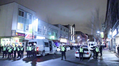 Mass arrests at illegal protests Stock Footage