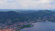 Stock Video Footage of Italy, lake Como landscape with sky and clouds, time-lapse.