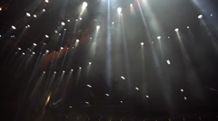 Empty stage with spotlights - stock footage