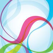 Colourful EPS10 wave background Stock Illustration