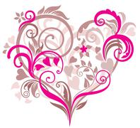 Beautiful background with heart Stock Illustration