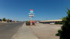 Wide Shot Historic Route 66 Motel- Seligman Arizona Stock Footage