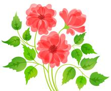 Colorful flower card Stock Illustration