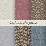 Set of six vector seamless patterns Stock Illustration