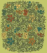 Decorative floral background Stock Illustration