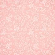 Decorative floral seamless pattern Stock Illustration