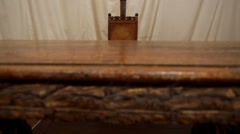 Wooden altar and chairs Stock Footage
