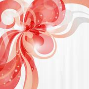 Abstract love theme background in red tones Stock Illustration