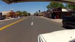 Wide Shot RV Driving Route 66 Through Seligman AZ 3 Stock Footage