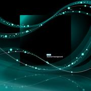 Abstract EPS10 glowing waves background Stock Illustration