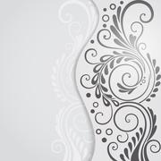 Abstract floral background for design Stock Illustration