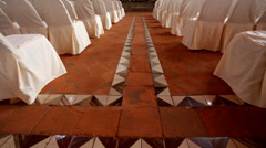 A walk down the aisle - stock footage