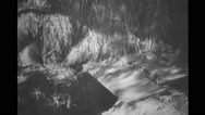 Military soldier walking in VC tunnel Stock Footage