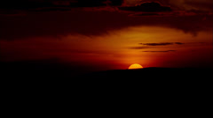 Cloudy Sunset Stock Footage