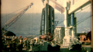 Stock Video Footage of 8mm film 1960s pan of a aircraft carrier