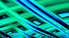 Fractal Background Loop: Green and Blue Cross Stitch Stock Footage