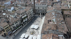 Piazza Erbe (Verona) Time Lapse Tilt Shift Stock Footage