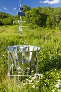 Andes weather station - stock photo