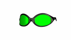 Rotating glasses with green screen lenses Stock Footage