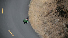 Luge, Skateboard Race at Maryhill Loops Rd in Goldendale WA Stock Footage