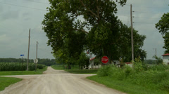 Kansas crossroads farm - stock footage