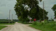 Stock Video Footage of Kansas crossroads farm