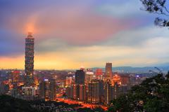 Stock Photo of taipei taiwan city skyline buildings with taipei 101