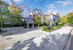 Stock Photo of park avenue residential building. entrance view