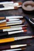 Professional cosmetic brush - stock photo