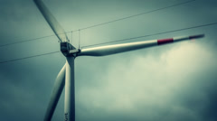 wind turbine, windmill close, Power Plant - stock footage