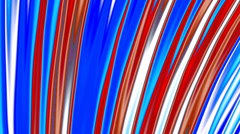 4th of July Patriotic Red White & Blue Looping Fractal Background (lines) - stock footage