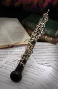 oboe vintage setup - stock photo