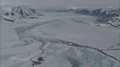 Stock Video Footage of Aerial Footage Arctic Tundra
