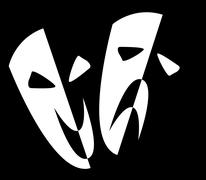 Stock Illustration of stage masks
