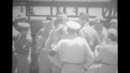 Military officers travelling from military land vehicle Stock Footage