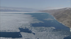 Aerial Footage Arctic Tundra Stock Footage