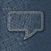 Stock Illustration of jeans textured speech bubble