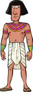 ancient egyptian citizen - stock illustration