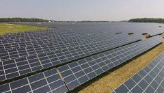 Renewable Solar Energy Project Stock Footage