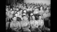 Military officers and military soldiers attending the briefing Stock Footage