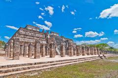 Temple of the Warriors, Chichen Itza, Mexico Stock Photos