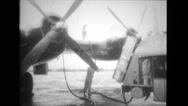 Military aeroplanes being refuel Stock Footage