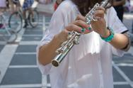 Stock Photo of transverse flute on the street
