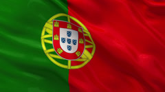 Flag of Portugal waving in the wind Stock Footage