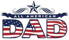American dad Stock Illustration