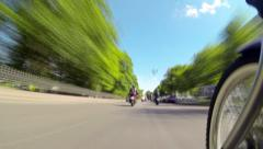 Pov Motorcycle Riding, City streets riding. Day Stock Footage