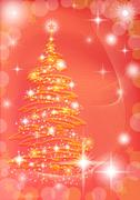 Christmas background with fir tree Stock Illustration