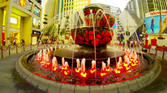 KUALA LUMPUR- JUNE 2014: Pavilion Liuli Crystal Fountain, Bukit Bintang. Stock Footage